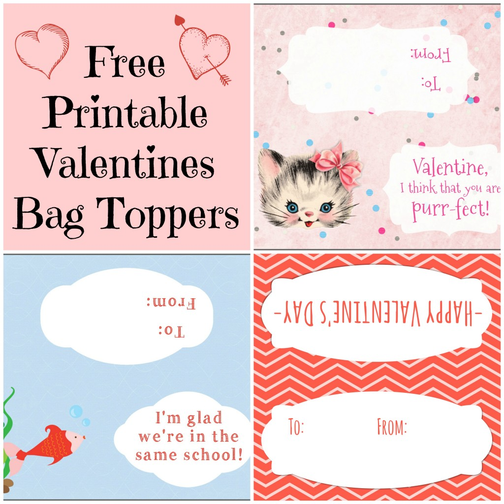 photograph regarding Free Printable Bag Toppers referred to as Totally free Printable Valentines Working day Bag Toppers - Home Mommyhood
