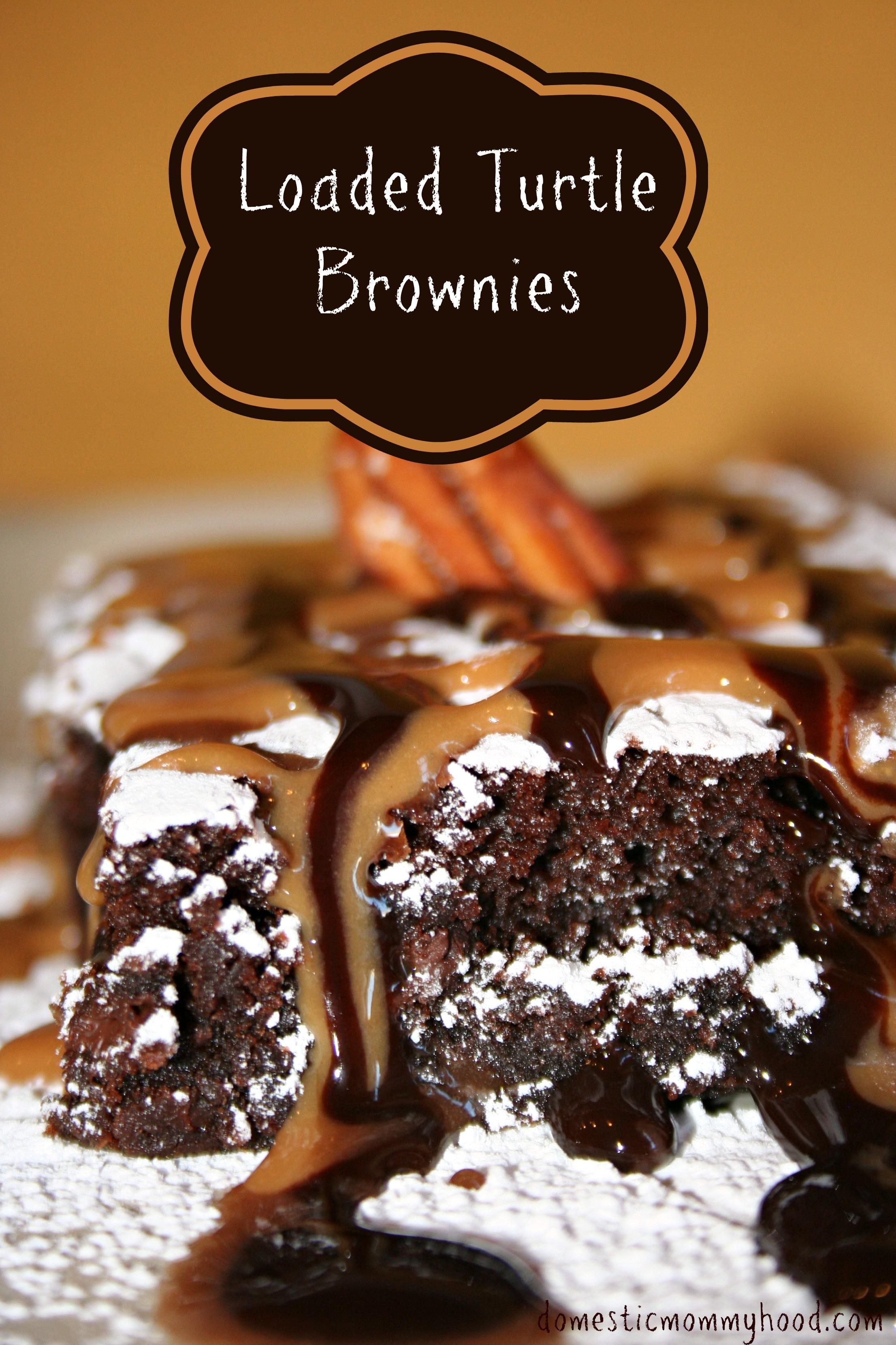 Turtle Brownies - Domestic Mommyhood