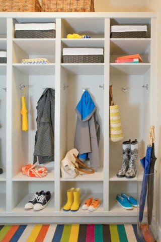 organizational tips for your mud room