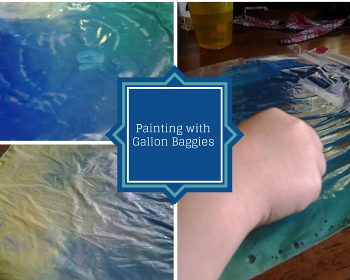 painting with gallon baggies