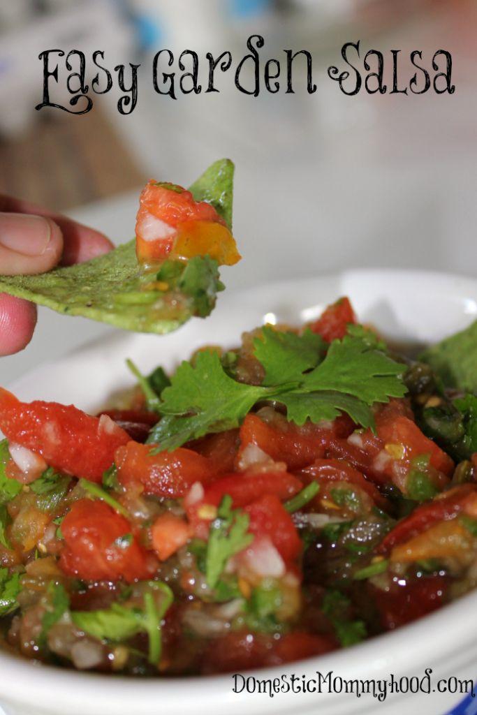 easy garden salsa