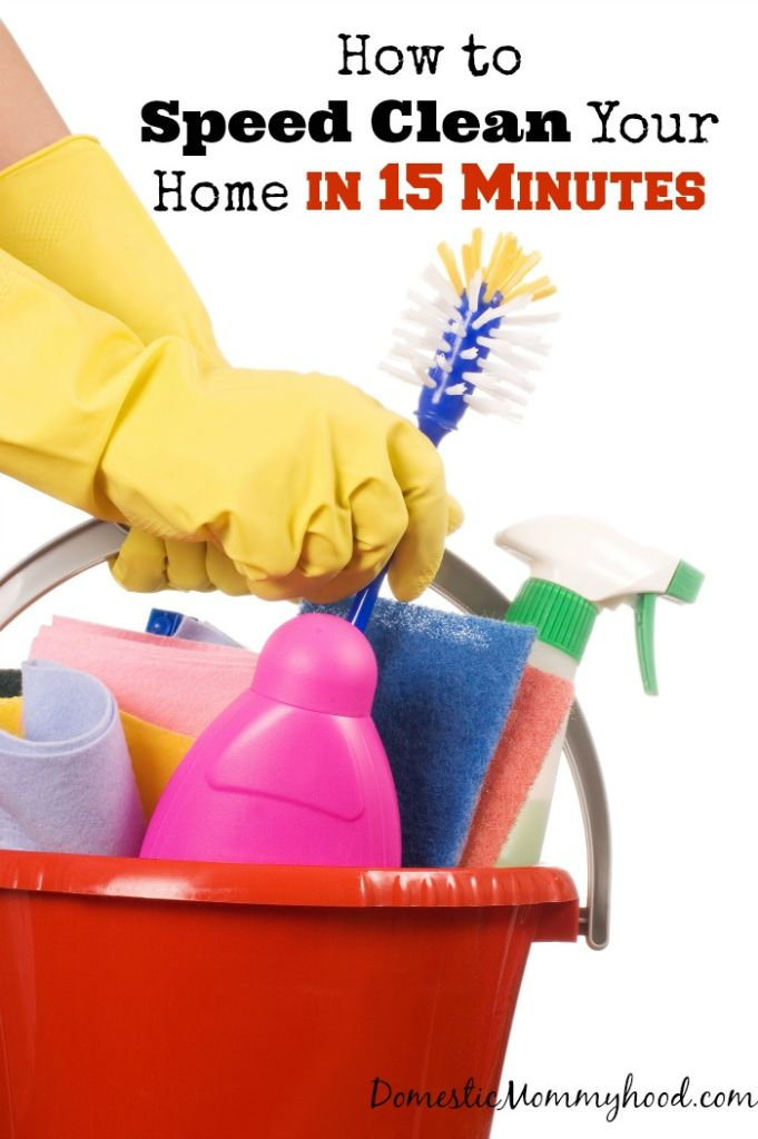 how to speed clean your home in 15 minutes