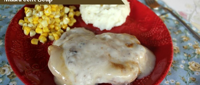 Crock Pot Pork Chops Smothered in Mushroom Soup Recipe