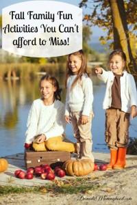 fall family fun activites