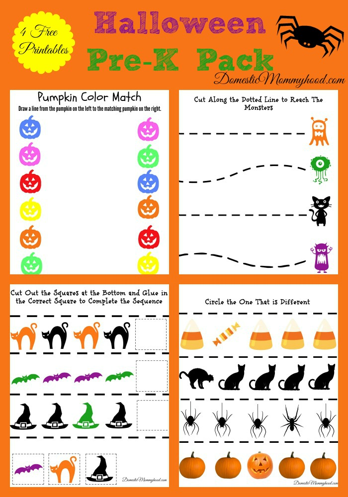 Free Pre-K Halloween Pack Printable - Domestic Mommyhood