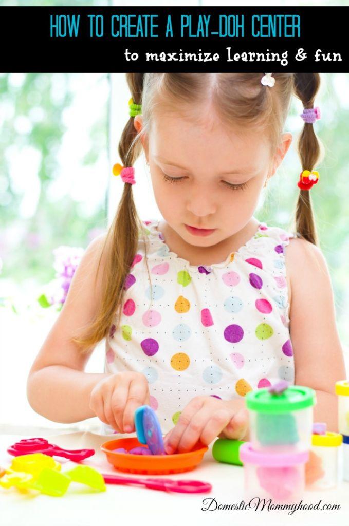 Creating a Play-doh Center