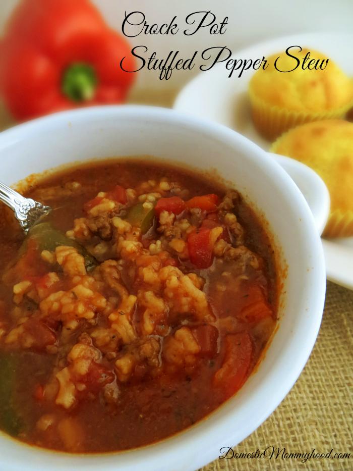 crock pot stuffed pepper stew