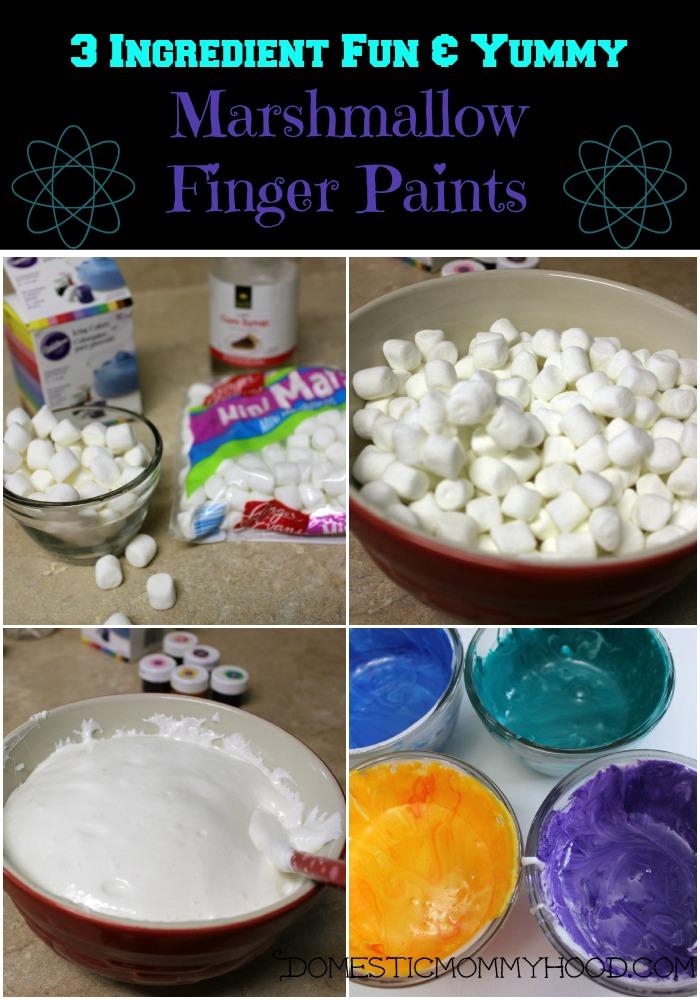 marshmallow finger paint