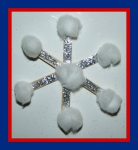 Popsicle Stick Snowflake Craft and Winter Song