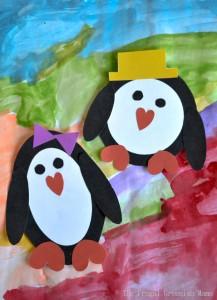 printable penguin craft
