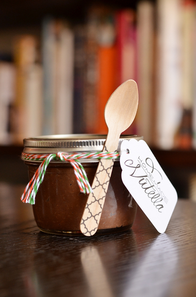 nutella gifts in a jar