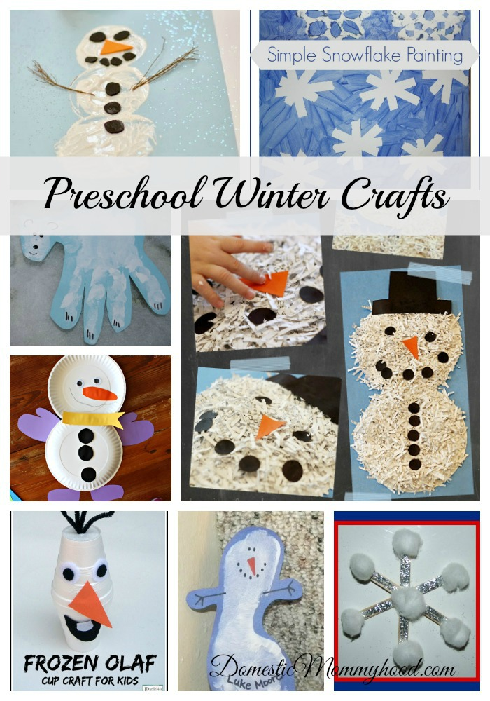 Preschool winter crafts domestic mommyhood for Winter crafts for preschoolers