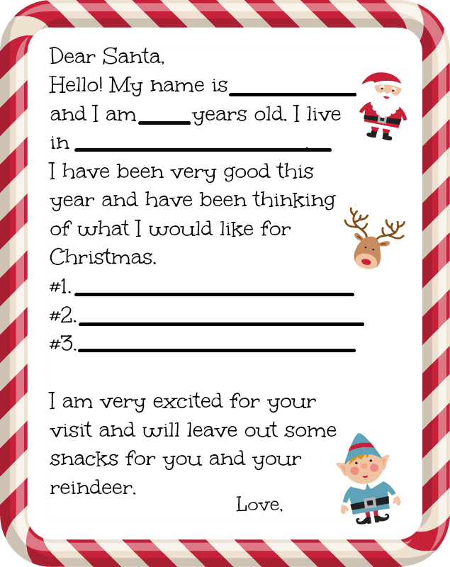 Santas Address For Mailing Him A Letter Free Printable