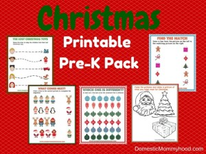 Christmas Printable Pre-K Pack