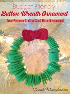 button wreath ornament great for small motor devlopement
