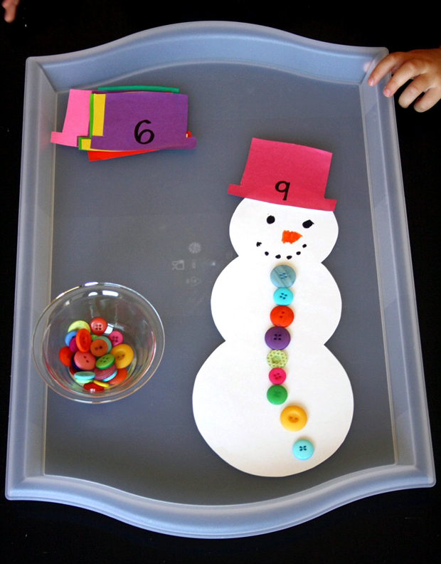 counting snowman preschool winter activity