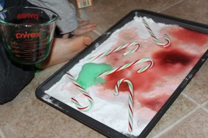 fizzing candy canes Science Experiments