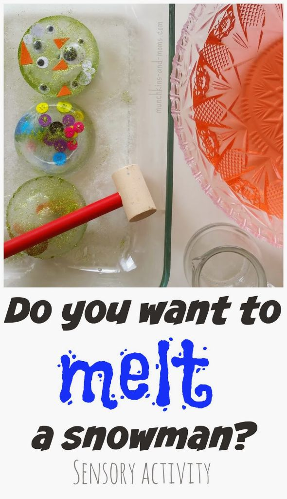 melt a snowman Preschool Winter Activities