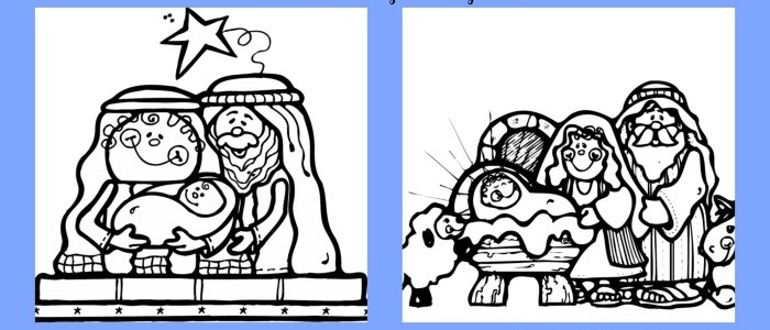 Nativity Coloring Page Printables + Christ Centered Christmas Tradition Ideas