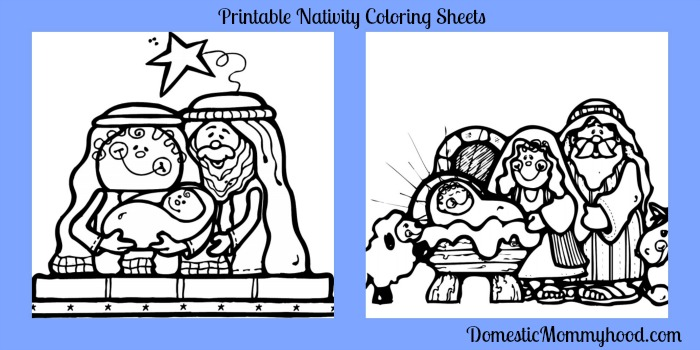 Nativity Coloring Page Printables Christ Centered