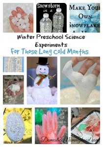 winter preschool science experients