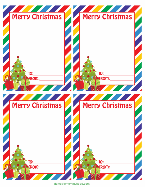 Free Printable Class Christmas Cards Great for Attaching Candy or ...
