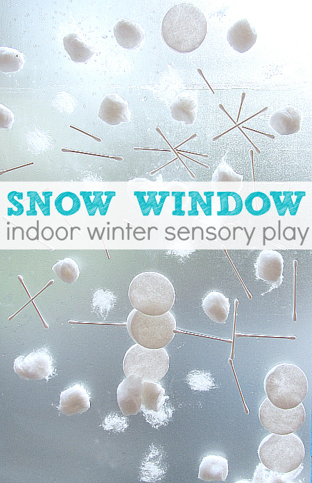 snow window Preschool Winter Activities