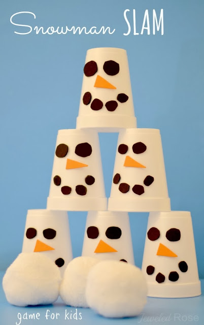 snowman slam game Preschool Winter Activities