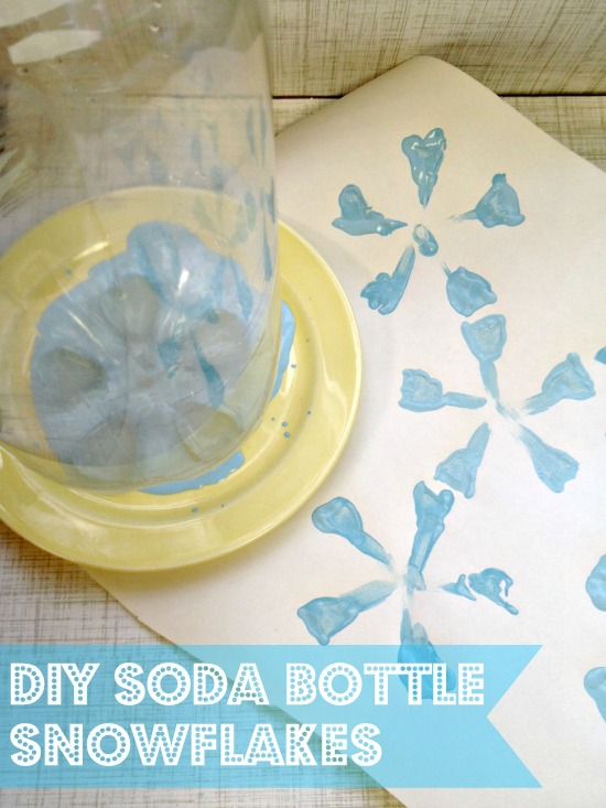 soda bottle stamp Preschool Winter Activities