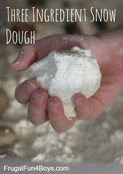 three ingredient snow dough Science Experiments