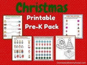 Christmas Printable Pre-K Pack