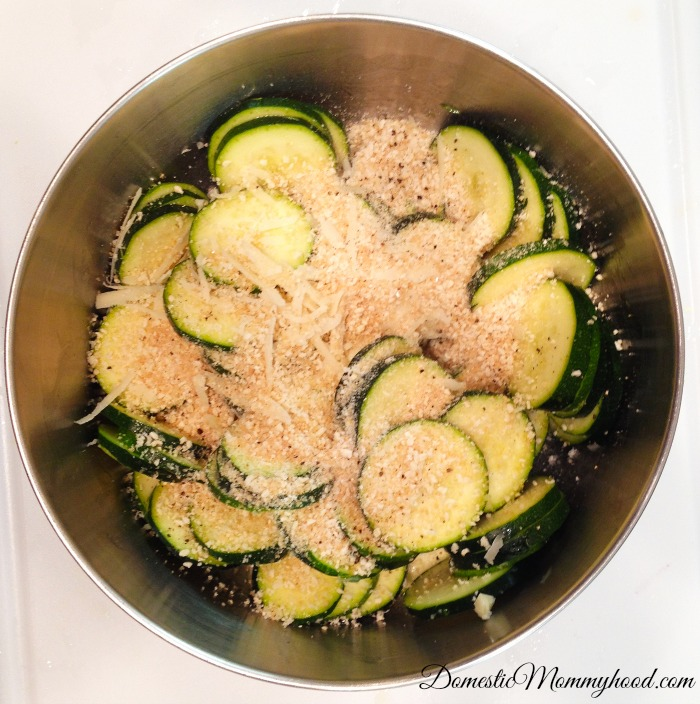 Baked Zucchini In Process 2
