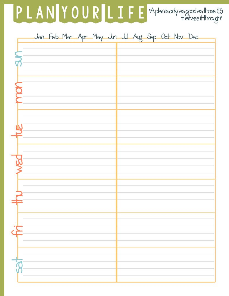 Daily Goals Plan Your Life Printable - Domestic Mommyhood