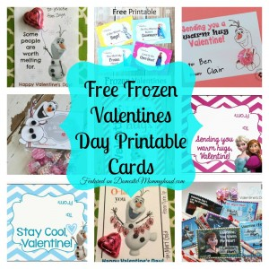 8 free frozen valentines day printables