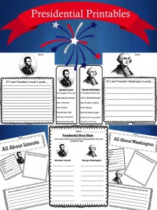 Presidents Day Printable Pack