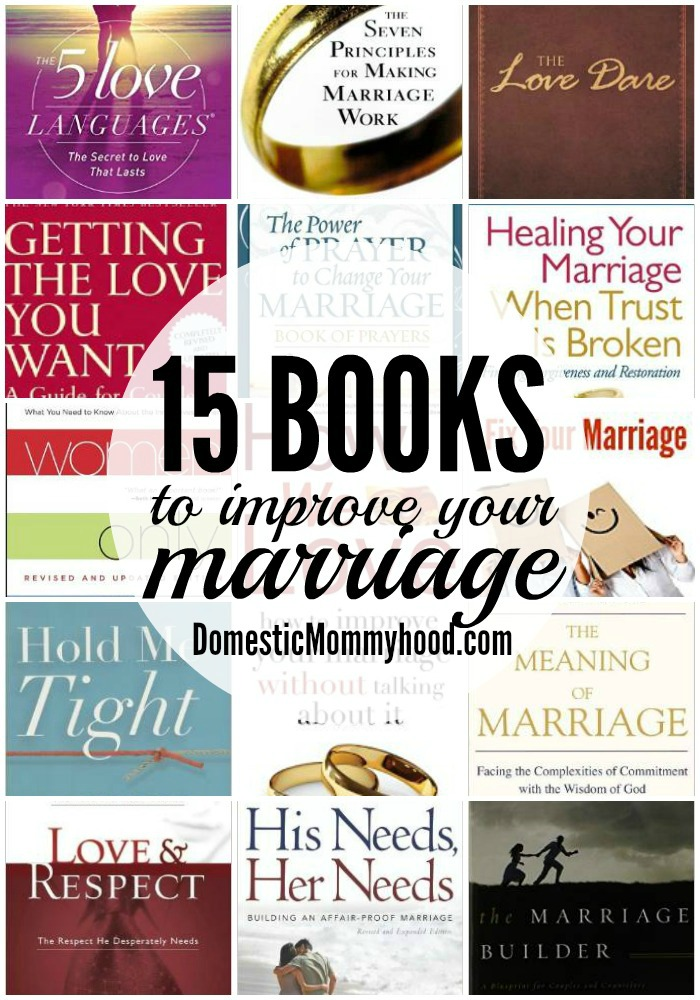 15 books to improve your marraige