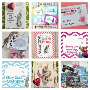 Free Frozen Valentines Day Printable Cards