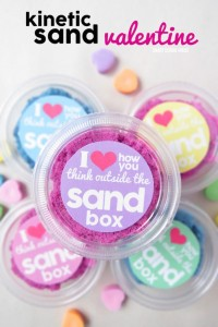 FREE Printable Non-Candy Valentines kinetic sand