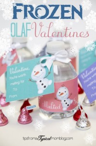 "FREE Printable Non-Candy Valentines ""Frozen"" style"