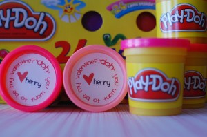 FREE Printable Non-Candy Valentines play doh