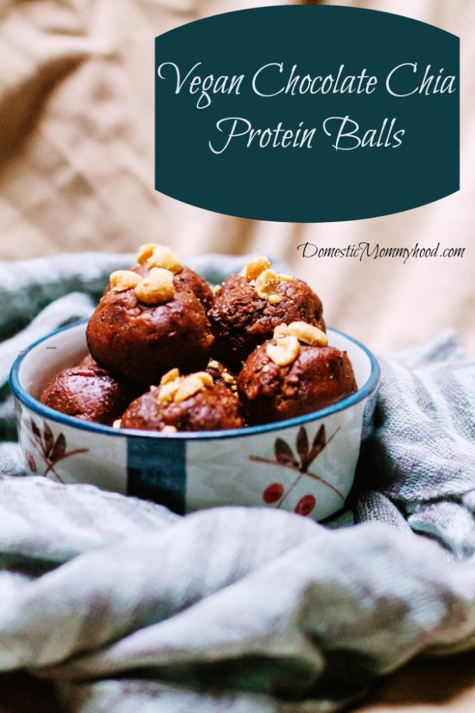 vegan chocolate chia protein balls