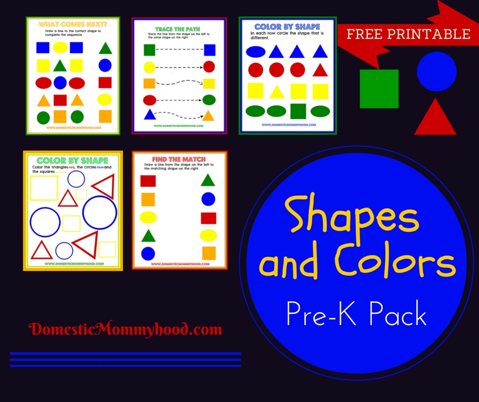 shapes and colors printable