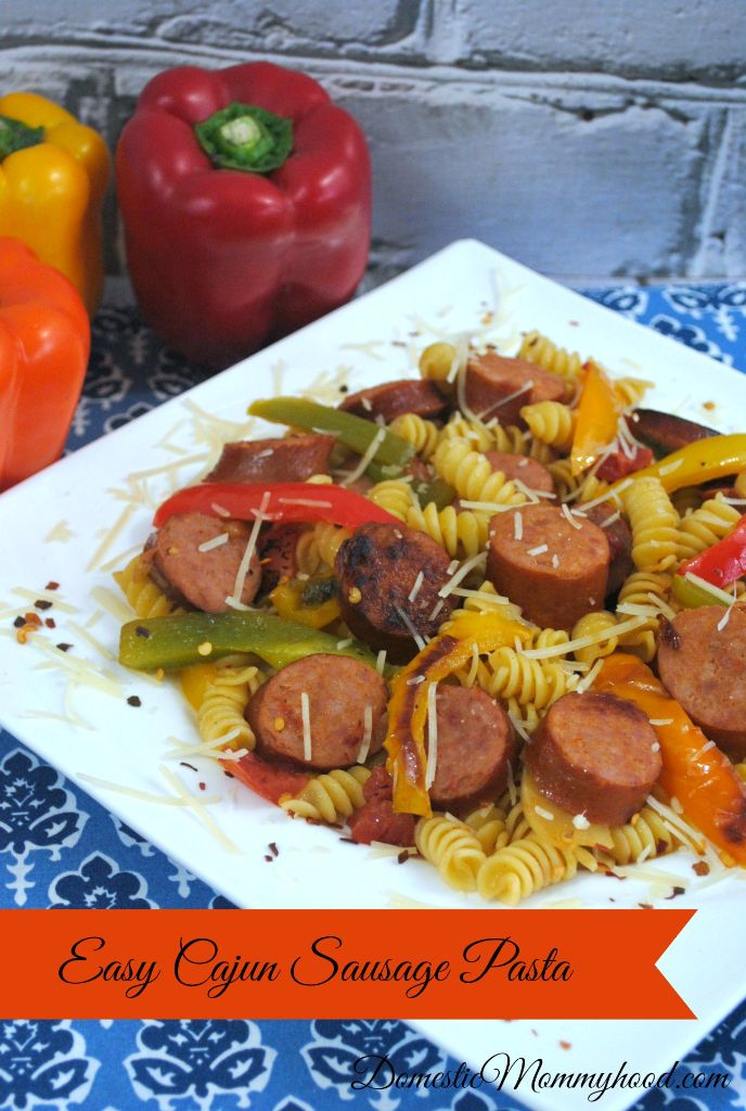 Easy Cajun Sausage Pasta Meal Ready in under 20 Minutes!
