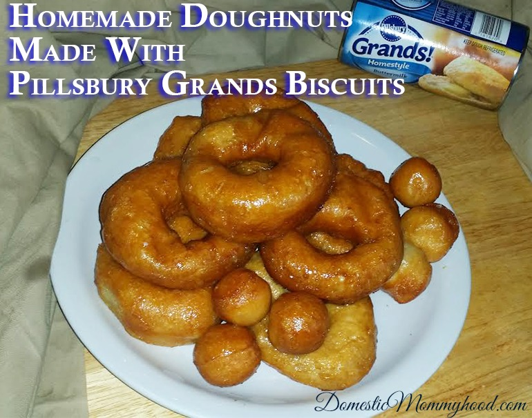 Homemade Doughnuts Made With Pillsbury Grands Biscuits Domestic