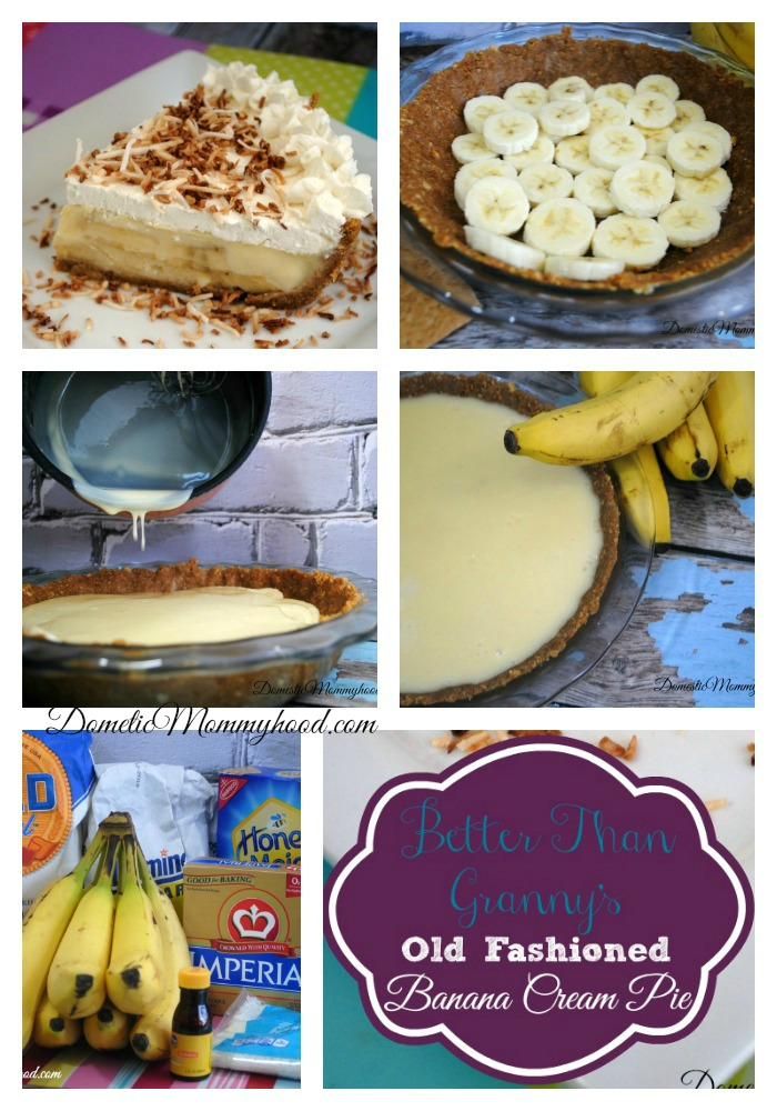 better than grannys banana cream pie collage