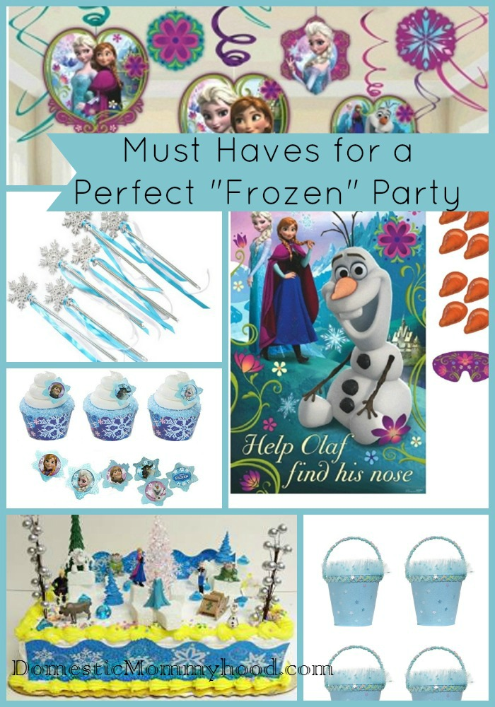 must haves for a frozen princess party