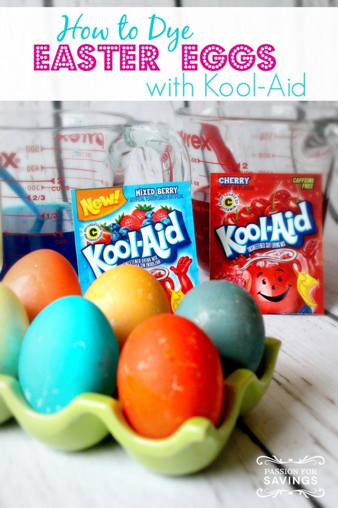 kool aid easter egg dye