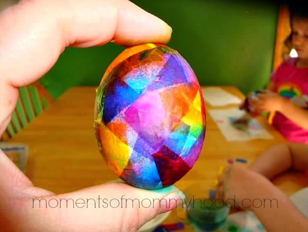 I know all of you have a little tissue paper just laying around the house with all it's papery prettyness!! Well head on over to Moments of Mommyhood and check out this great tutorial for Tissue Paper Dyed Easter Eggs. What a beautiful and creative way to Dye Easter Eggs.