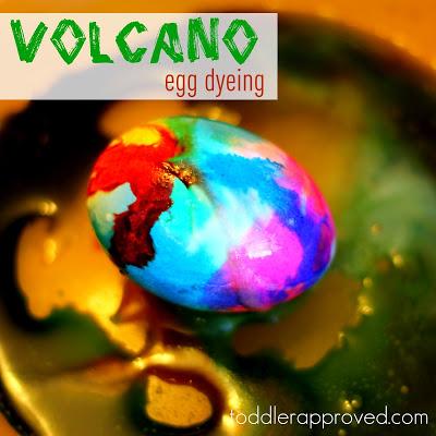 volcano easter egg dye