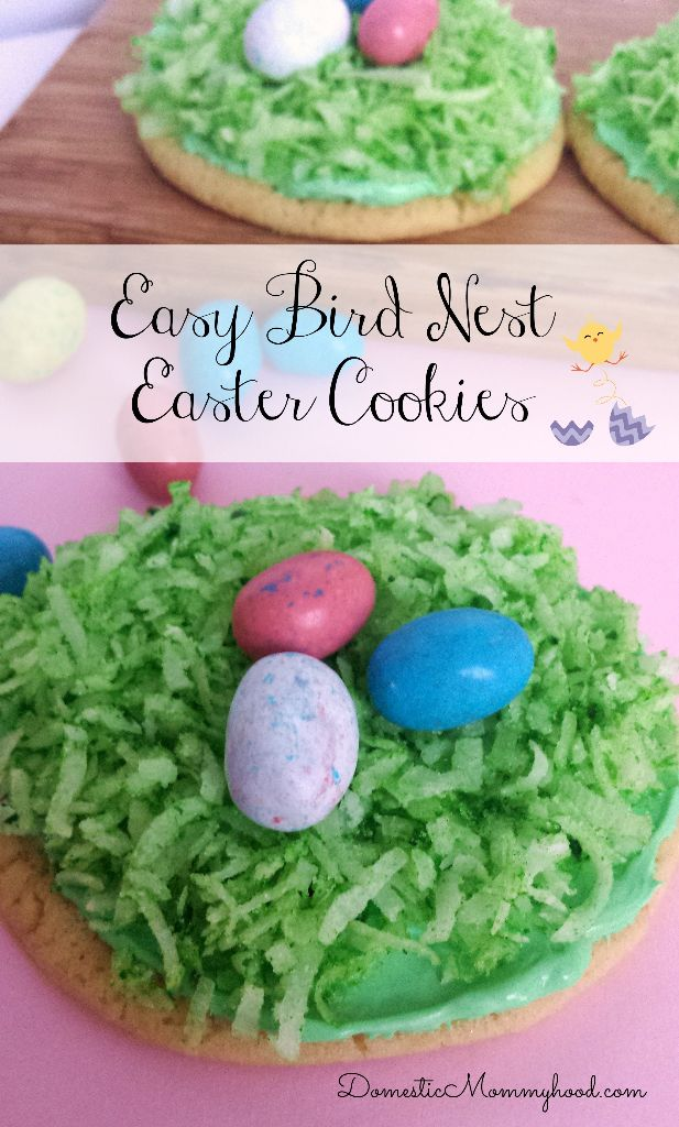 Easy Bird Nest Easter Cookies